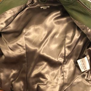 Cache Jackets & Coats - Money Green Leather Jacket from Cache